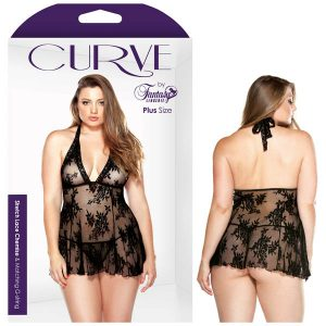 Curve Claudia Stretch Lace Chemise and Matching G-string