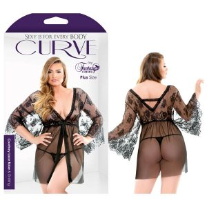 Curve Courtney Lace Robe & G-string