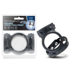 Performance VS8 Silicone Double Cock & Ball Strap