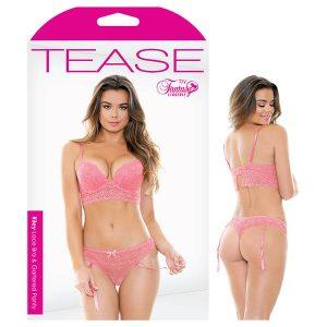 Tease Riley Lace Bra & Gartered Panty