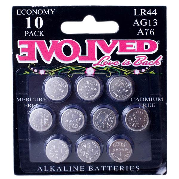 Evolved LR44 Alkaline Batteries