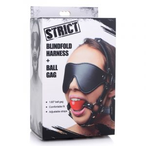 Strict Blindfold Harness with Ball Gag