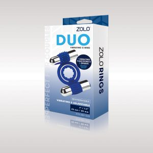 Zolo Rechargeable Duo Vibrating C-Ring